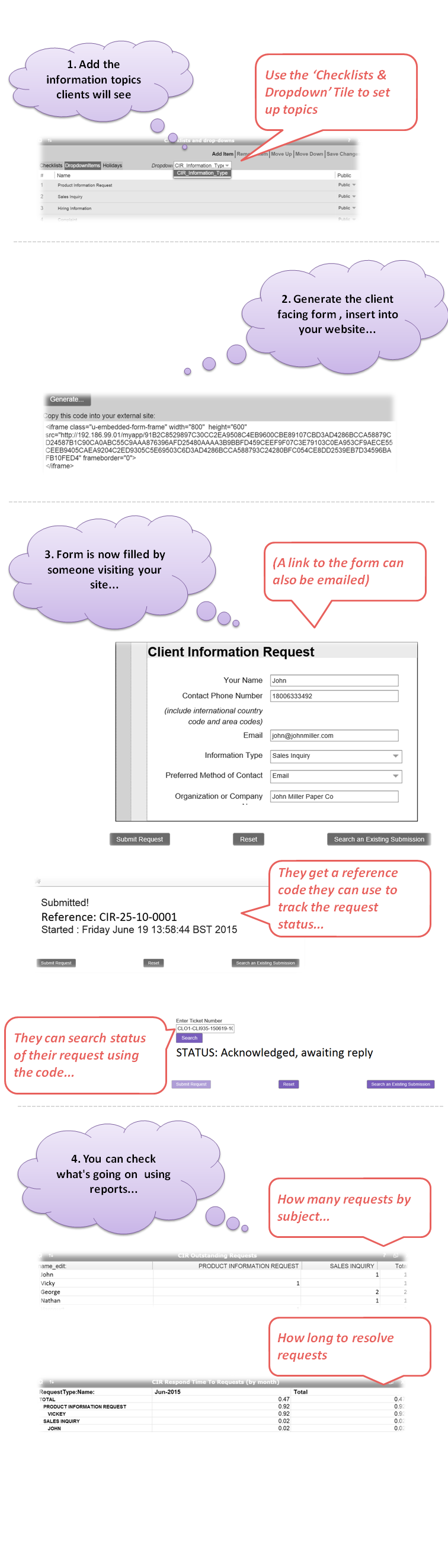 What does Client Information Request do3