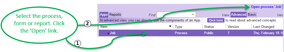 How to – Edit a form, process or report